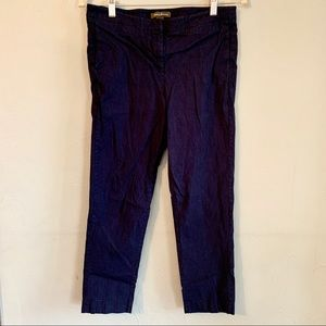 Tommy Bahama stretch linen cropped navy pants